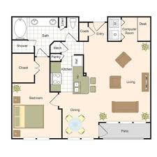 Computer Room Floor Plan by Floor Plans Jackson Hill Luxury Apartments Living In Houston