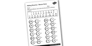 roman coins addition worksheet roman coins roman numerals