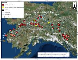 Map Of Alaska And Canada by Water Quality In The Yukon River Basin