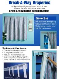 Shower Curtain Track Hooks Break A Way Track Ccsi69 Breakaway Shower Curtains