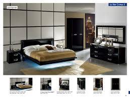 Modern Bedroom Platform Set King Black Lacquer Bedroom Furniture Sets Contemporary King Italian