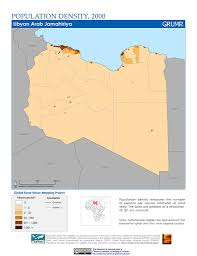 Map Of Libya Maps Population Density Grid V1 Sedac