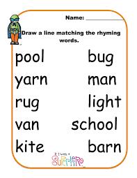 printable rhyming words worksheet words that rhyme for wosenly free worksheet