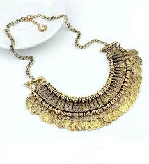 necklace boho images Boho arabic coin necklace antique gold the stellar boutique jpg