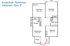 acadia park sample floor plans