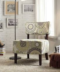 homelegance orson accent chair floral medallion fabric 1191f4s