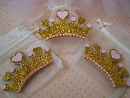 Tiara And Wand Favor by Pink And Gold Princess Theme Favor Bags By Favorsbygirlybows