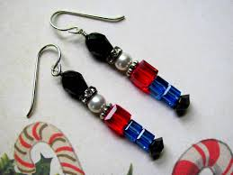 Swarovski Crystal Christmas Ornaments Sale by Toy Soldier Earrings Holiday Earrings Swarovski Crystals