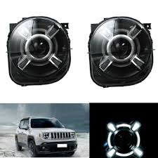 jeep wrangler xenon headlights shop automobiles h4 led headlights with drl and bi xenon