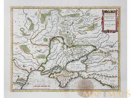 Europe Peninsulas Map Maps Of Crimea Peninsula Old Map Ukraine Janssonius M U0026m