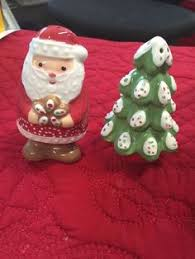 santa claus and christmas tree salt and pepper shakers all