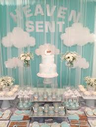 themed baby shower heaven sent baby shower mondeliceblog heaven sent baby