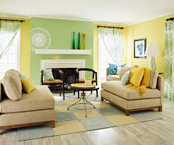 Yellow Room Decor Contemporary  Orange And Yellow Color Scheme - Green and yellow color scheme living room