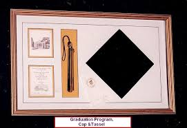 graduation shadow box frame for graduation cap tassel program and invitation one