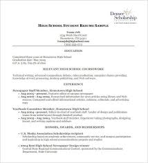 resume sles for high students pdf high resume exles pdf listmachinepro com
