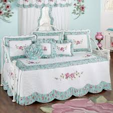 Daybed Comforter Set Rose Garden Floral Quilted Daybed Bedding Set