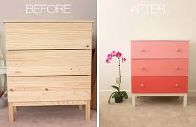 tips for painting ikea furniture before and after of painted ikea
