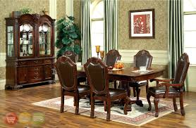 g020 dining table brown white dining room set formal traditional