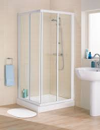 White And Beige Bathrooms Bathroom Sophisticated Corner Shower Stall Kits For Enjoyable
