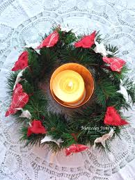a vintage christmas candle wreath daily inspiration from our