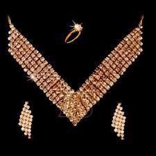 diamond set buy ethnic heavy american diamond set with ring online best