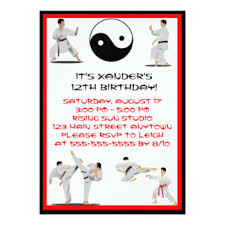 karate cards greeting u0026 photo cards zazzle