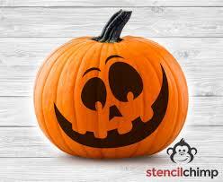 diy art stencil goofy pumpkin stencil