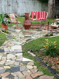patio made with granite scraps free yard ideas pinterest