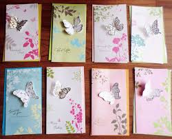 8pcs set creative 3d butterfly greeting cards with envelopes for
