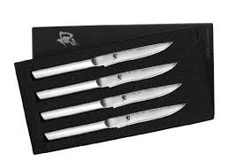 kershaw kitchen knives set shun mhs0400 stainless steel steak knife set 4 by kershaw