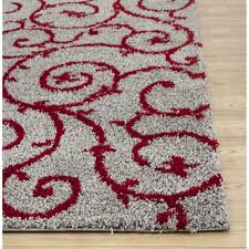 Sofia Area Rug Red And Grey Area Rugs Roselawnlutheran