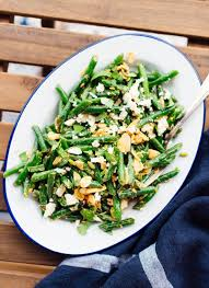 green bean salad with toasted almonds u0026 feta cookie and kate