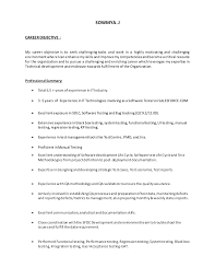 Sample Testing Resume For Experienced by Salesforce Testing Resume