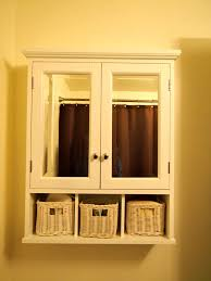 Diy Bathroom Wall Cabinet by Decorative Framed Glass Panel Door On White Wooden Bathroom Wall