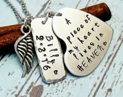 personalized remembrance jewelry remembrance necklace etsy