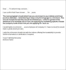 Resume Referee Sample by Format For Writing A Personal Reference Letter Mediafoxstudio Com