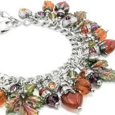 view silver charm bracelets by blackberrydesigns on etsy