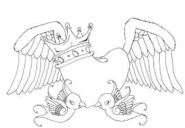 coloring pages of heart pictures of hearts with wings free download clip art free clip