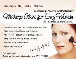 make up classes for makeup class for every woman sponsored by alina vincent