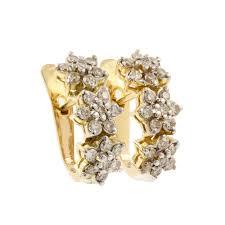 rositas earrings vintage 14k yellow gold rosita diamond 1 05ctw latch back