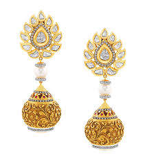 photo of earrings best jadau jewellery award gems jewellery federation jadau