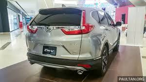honda crv 2017 colors 2017 honda cr v 1 5 vtec turbo awd previewed in malaysia