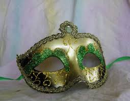 green mardi gras mask mardi gras feather mask