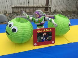 Halloween Baby Party Ideas Boy Story Baby Shower Theme Buzz Lightyear Table Centerpiece