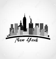 new york city skyline buildings icon vector royalty free cliparts