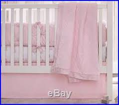 Pottery Barn Ruffle Crib Skirt Nwt Pottery Barn Kids 4pc Washed Velvet Quilt Crib Skirt Bumper