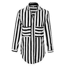 black and white striped blouse black and white striped blouse amazon com