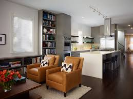 Living Room Kitchen Combo Furniture Arrangement In Small