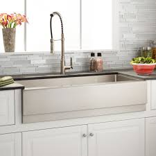 Optimum Stainless Steel Farmhouse Sink Beveled Apron Kitchen - Apron kitchen sinks