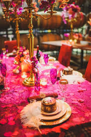Pink And Gold Table Setting by